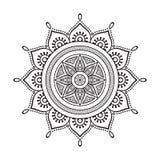 Διανυσματικό ινδικό Mandala Στοκ εικόνα με δικαίωμα ελεύθερης χρήσης
