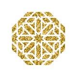 Διανυσματικό ισλαμικό χρυσό σχέδιο Στοκ Εικόνες