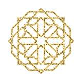 Διανυσματικό ισλαμικό χρυσό σχέδιο Στοκ φωτογραφία με δικαίωμα ελεύθερης χρήσης