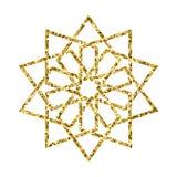 Διανυσματικό ισλαμικό χρυσό σχέδιο Στοκ Φωτογραφία