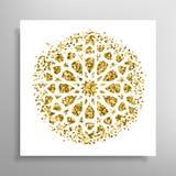 Διανυσματικό ισλαμικό χρυσό σχέδιο Στοκ εικόνες με δικαίωμα ελεύθερης χρήσης