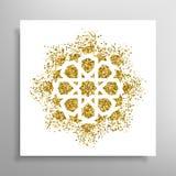 Διανυσματικό ισλαμικό χρυσό σχέδιο Στοκ εικόνα με δικαίωμα ελεύθερης χρήσης