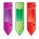Διανυσματικό κάθετο σύνολο εμβλημάτων χρώματος ελεύθερη απεικόνιση δικαιώματος
