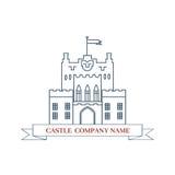 Διανυσματικό κάστρο Τέλειο λογότυπο για την ακίνητη περιουσία πολυτέλειας ελεύθερη απεικόνιση δικαιώματος