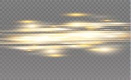 Διανυσματικό κίτρινο και μπλε ειδικό εφέ Φωτεινά λωρίδες σε ένα διαφανές υπόβαθρο Όμορφη πυράκτωση και σπινθήρας πυράκτωσης Στοκ φωτογραφία με δικαίωμα ελεύθερης χρήσης