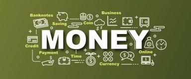 Διανυσματικό καθιερώνον τη μόδα έμβλημα χρημάτων Στοκ Εικόνα