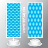 Διανυσματικό καθορισμένο μπλε γεωμετρικό αφηρημένο άνευ ραφής σχέδιο σχεδίων απεικόνιση αποθεμάτων