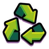 Διανυσματικό καθολικό σύμβολο ανακύκλωσης που απομονώνεται στο άσπρο υπόβαθρο Στοκ Εικόνα