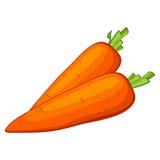 Διανυσματικό καρότο Στοκ εικόνα με δικαίωμα ελεύθερης χρήσης