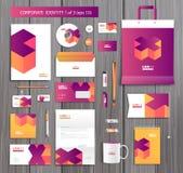 Διανυσματικό καλλιτεχνικό εταιρικό πρότυπο ταυτότητας με ελεύθερη απεικόνιση δικαιώματος