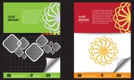 Διανυσματικό κενό πρότυπο τυπωμένων υλών σχεδίου φυλλάδιων δις-πτυχών flayer Στοκ εικόνες με δικαίωμα ελεύθερης χρήσης