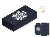 Διανυσματικό κιβώτιο προτύπων περικοπών λέιζερ γαμήλιων καρτών διακοσμητικός τρύγος στ&o συρμένο ανασκόπηση χέρι Ισλάμ, Αραβικά,  διανυσματική απεικόνιση