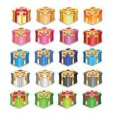 Διανυσματικό κιβώτιο δώρων ευτυχές Στοκ εικόνα με δικαίωμα ελεύθερης χρήσης