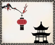 Διανυσματικό κινεζικό θέμα Στοκ φωτογραφίες με δικαίωμα ελεύθερης χρήσης