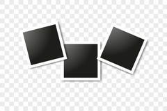 Σύνολο ρεαλιστικών τετραγωνικών πλαισίων, διανυσματικό σχέδιο προτύπων πλαισίων φωτογραφιών Διανυσματικό κολάζ φωτογραφιών πλαισί στοκ φωτογραφία με δικαίωμα ελεύθερης χρήσης