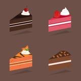 Διανυσματικό κομμάτι του κέικ Διανυσματική απεικόνιση