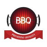 Διανυσματικό κρέας εξαιρετικής ποιότητας, εικονίδιο σχαρών σχαρών, bbq έννοια Επίπεδο ύφος κινούμενων σχεδίων Στοκ Εικόνα