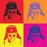 Διανυσματικό κρανίο Λαϊκή τέχνη Στοκ εικόνα με δικαίωμα ελεύθερης χρήσης