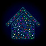 Διανυσματικό κτήριο κουζινών πλέγματος σφαγίων με τα ελαφριά σημεία για το νέο έτος διανυσματική απεικόνιση