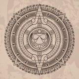 Διανυσματικό κυκλικό σχέδιο στο ύφος του Αζτέκου Στοκ φωτογραφία με δικαίωμα ελεύθερης χρήσης