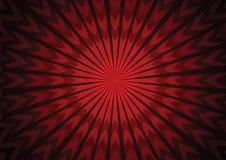 Διανυσματικό κόκκινο αφηρημένο υπόβαθρο βελών starburst Στοκ Εικόνα