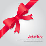 Διανυσματικό κόκκινο τόξο Ζωηρόχρωμη κορδέλλα Ύφος κινούμενων σχεδίων Στοκ φωτογραφίες με δικαίωμα ελεύθερης χρήσης
