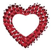 Διανυσματικό κόκκινο υπόβαθρο καρδιών για την ημέρα βαλεντίνων ` s Στοκ Φωτογραφία