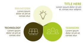 Διανυσματικό κύκλων eco φύλλων βελών πράσινο infographic Διάγραμμα οικολογίας, γραφική παράσταση λουλουδιών, παρουσίαση, διάγραμμ Στοκ Φωτογραφία