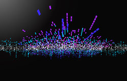 διανυσματικό κύμα μουσι&kap διανυσματική απεικόνιση