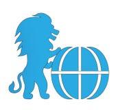 Διανυσματικό λιοντάρι δύναμης συμβόλων λογότυπων Στοκ Εικόνες