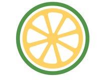 Διανυσματικό λογότυπο ασβέστη σε ένα άσπρο υπόβαθρο ελεύθερη απεικόνιση δικαιώματος
