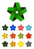 Διανυσματικό λογότυπο αστεριών κορδελλών στην πλοκή του σχεδίου εικονιδίων Στοκ εικόνες με δικαίωμα ελεύθερης χρήσης