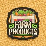 Διανυσματικό λογότυπο για τα αγροτικά προϊόντα ελεύθερη απεικόνιση δικαιώματος