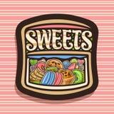 Διανυσματικό λογότυπο για τα γλυκά διανυσματική απεικόνιση