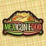 Διανυσματικό λογότυπο για τα μεξικάνικα τρόφιμα διανυσματική απεικόνιση
