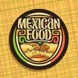 Διανυσματικό λογότυπο για τα μεξικάνικα τρόφιμα απεικόνιση αποθεμάτων