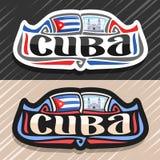 Διανυσματικό λογότυπο για την Κούβα διανυσματική απεικόνιση