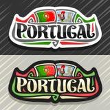 Διανυσματικό λογότυπο για την Πορτογαλία διανυσματική απεικόνιση
