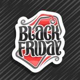 Διανυσματικό λογότυπο για τη μαύρη Παρασκευή ελεύθερη απεικόνιση δικαιώματος