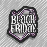 Διανυσματικό λογότυπο για τη μαύρη Παρασκευή διανυσματική απεικόνιση