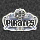 Διανυσματικό λογότυπο για τους πειρατές ελεύθερη απεικόνιση δικαιώματος
