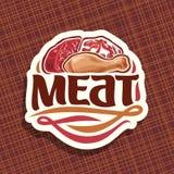 Διανυσματικό λογότυπο για το κρέας ελεύθερη απεικόνιση δικαιώματος