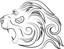 Διανυσματικό λογότυπο ενός κεφαλιού λιονταριών ` s διανυσματική απεικόνιση