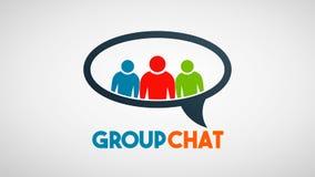 Διανυσματικό λογότυπο επικοινωνίας ανθρώπων κοινωνικής ομάδας διανυσματική απεικόνιση