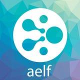 Διανυσματικό λογότυπο ΝΕΡΑΙΔΩΝ Aelf Αποκεντρωμένο σύννεφο που υπολογίζει το δίκτυο Blockchain και crypto το νόμισμα ελεύθερη απεικόνιση δικαιώματος