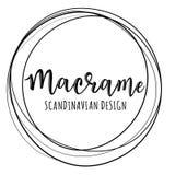 Διανυσματικό λογότυπο ` Macrame ` Στοκ φωτογραφία με δικαίωμα ελεύθερης χρήσης