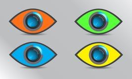 Διανυσματικό μάτι εστίασης χρώματος απεικόνιση αποθεμάτων
