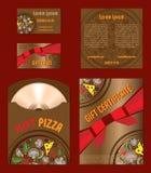 Διανυσματικό μίνι σύνολο δώρων πιτσών Στοκ Εικόνα