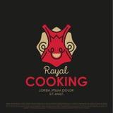 Διανυσματικό μαγειρεύοντας λογότυπο διανυσματική απεικόνιση