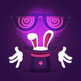 Διανυσματικό μαγικό καπέλο απεικόνιση αποθεμάτων